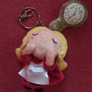 Alice in Wonderland Pocket Watch keychain ring